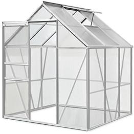 Aluminium Gewächshaus 5,85m³ / 7,6m³ Alu Gartenhaus Treibhaus Frühbeet -