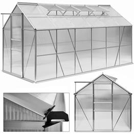 Gewächshaus 11,73m³ Alu Treibhaus Gartenhaus Pflanzenhaus Tomatenhaus Aufzucht Frühbeet -