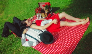 Grassamen picknick