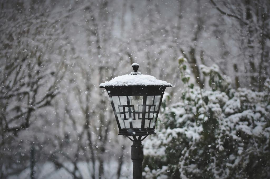 Solarleuchte Winter